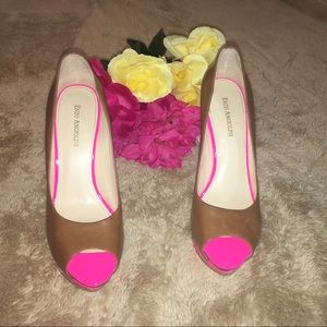 Enzo Angiolini pink and brown heels